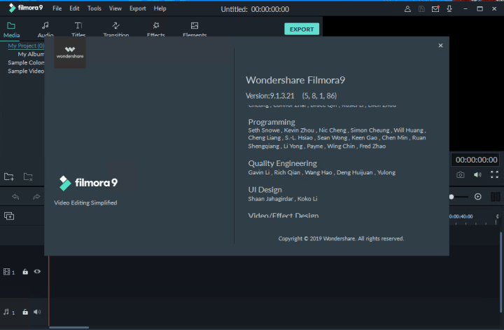 Wondershare Filmora 9.1.3.21 With Crack