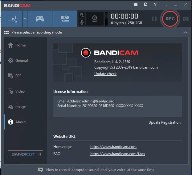 Bandicam 4.4.2.1550 Crack