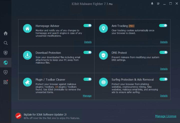 Descargar gratis IObit Malware Fighter Pro 7.1.0.5675 con crack