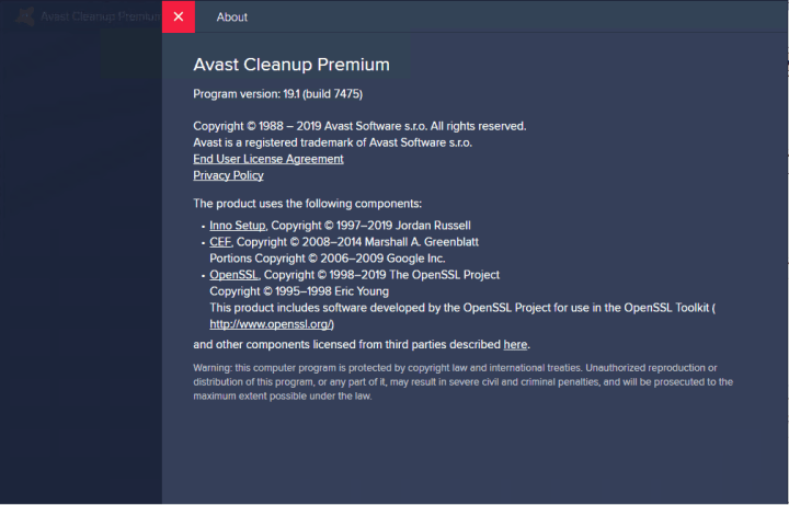 Avast Cleanup Premium 19.1 Build 7475 Full version