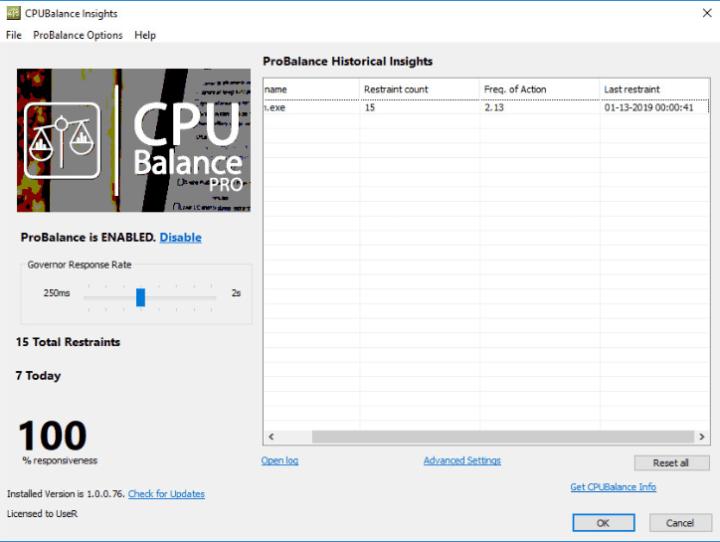 Bitsum CPUBalance Pro 1.0.0.84 Crack