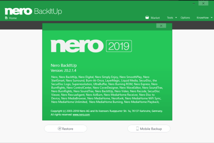 Nero BackItUp 2019 v20.2.1.4 Crack