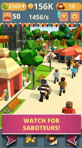 Theme Park Clicker Idle Craft Roller Coaster Inc v1.17 MOD APK
