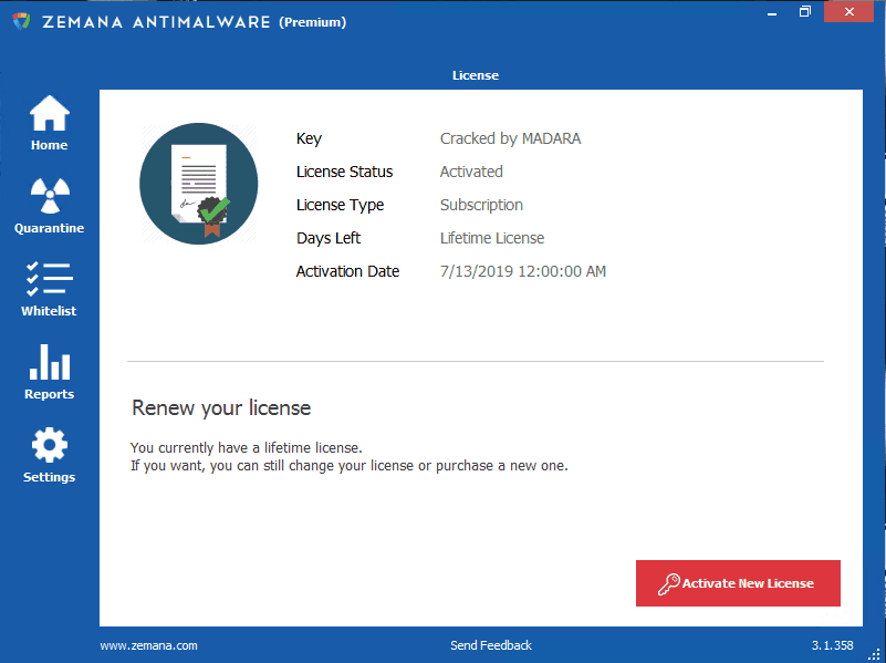 Zemana Anti-Malware Premium 3.1.358 Crack