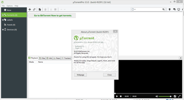 uTorrent Pro 3.5.5 Build 45291 Crack