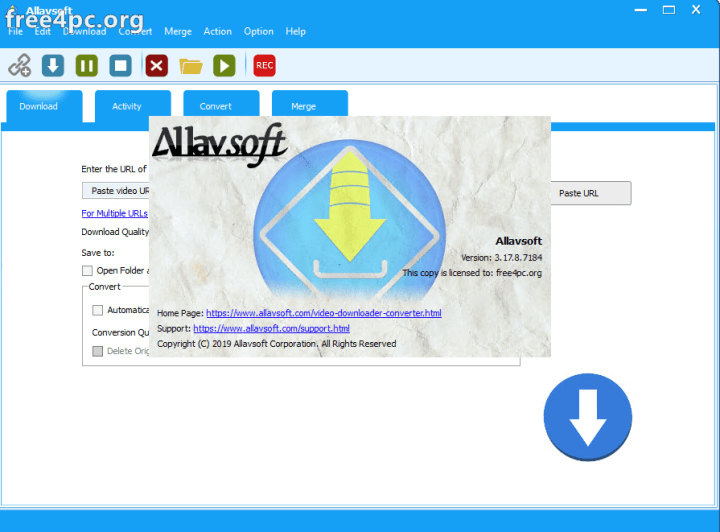 Allavsoft Video Downloader Converter 3.17.8.7184 Serial Key