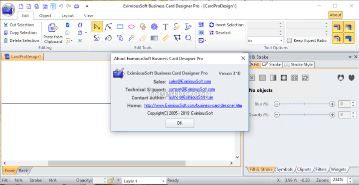 EximiousSoft Business Card Designer Pro Full crack