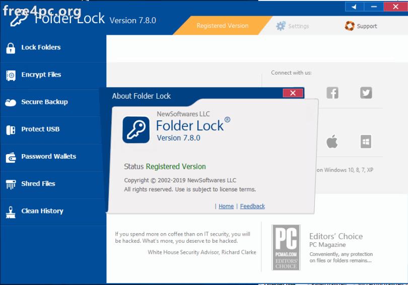 Folder Lock 7.8.0 Serial key