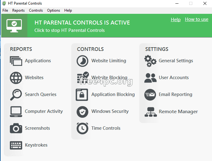 HT Parental Controls activation key