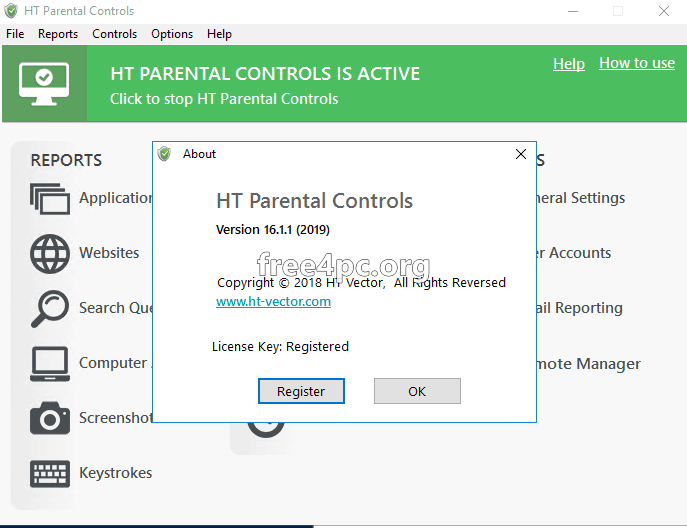 HT Parental Controls license key