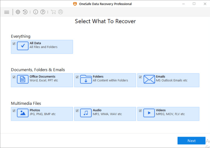 OneSafe Data Recovery Professional Serial key
