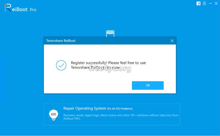 Tenorshare ReiBoot Pro full registration code