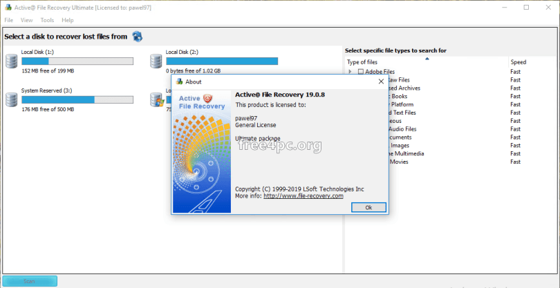 active file recovery key