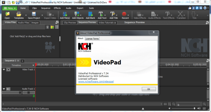NCHSoftware VideoPad Professional Key