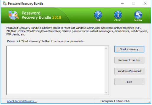 Password Recovery Bundle registration code