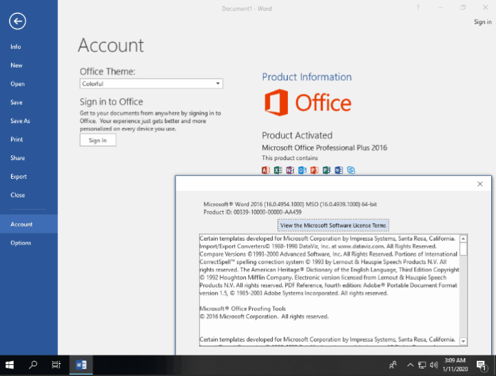 Microsoft Office 2016 Product Key 2020