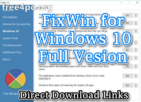 FixWin for Windows 10 Full Version