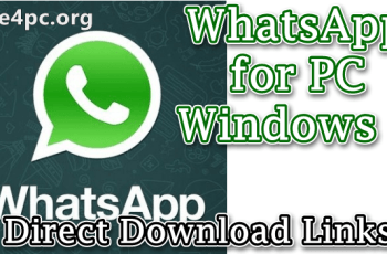 WhatsApp for PC Windows 7