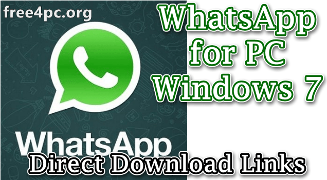 WhatsApp for PC Windows 7