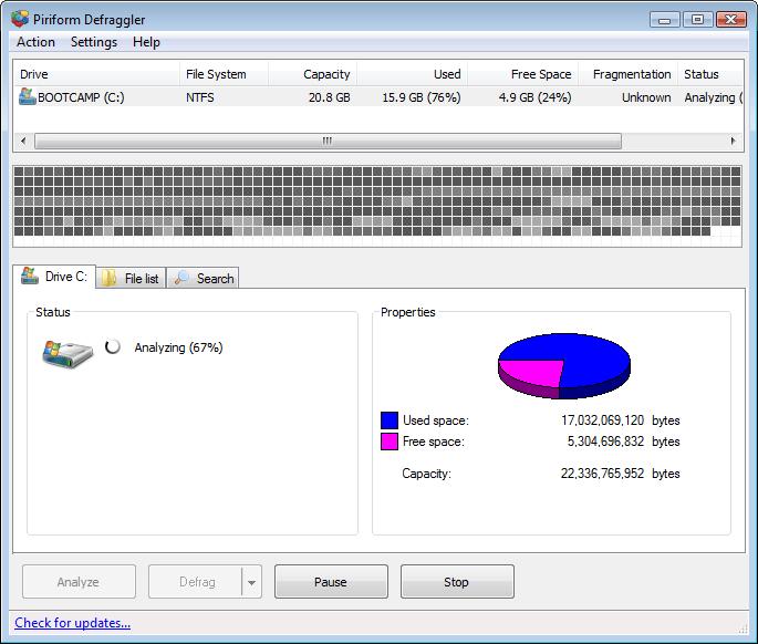 磁碟重組工具 Defraggler 免安裝版