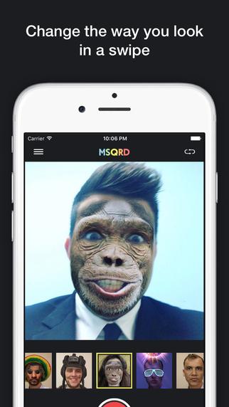 MSQRD換臉攝影軟體 攝影特效app