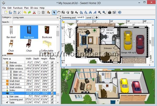 室內設計軟體免費下載 Sweethome 3D 室內設計我最行