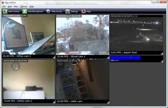 電腦監視器軟體 iSpy 遠端監控工具