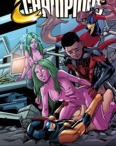 superhero anime porno