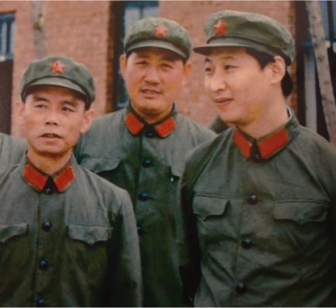 Xi assuming the place as a leader of the disastrous Red Guard.