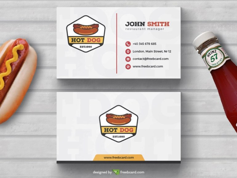 Hot-Dog Fast food Business Card Template