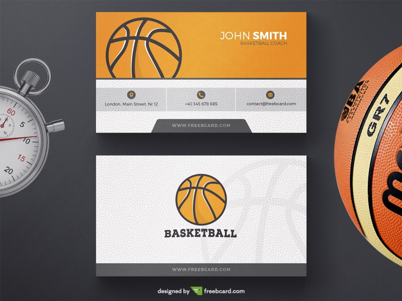Basketball Business Card Template Freebcard