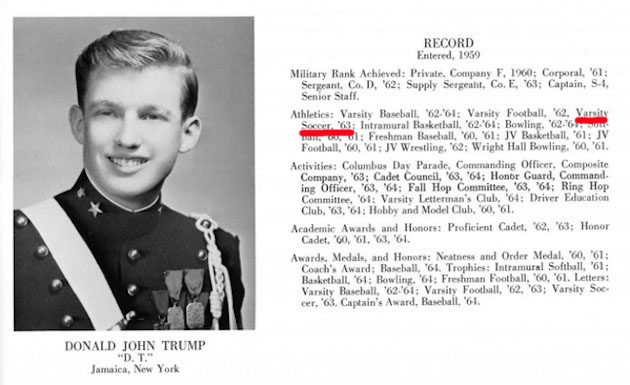 Image result for donald trump high school