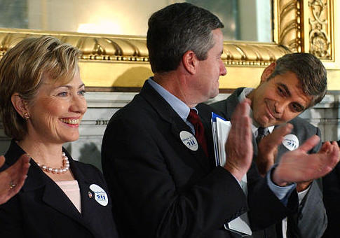 Image result for clooney clinton
