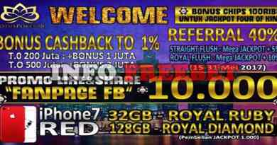 Freebet Like dan Share Dari Lotuspoker88.com 10000