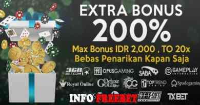 Promo Extra Bonus 200% Dari Depoqq288