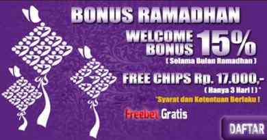 Freebet Gratis Rp 17.000 Selama Ramadhan Dari SingaPoker.com