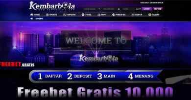 Freebet Gratis Syarat Mudah Dari KEMBARBOLA.COM