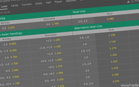 Asian Handicap betting on Bet365