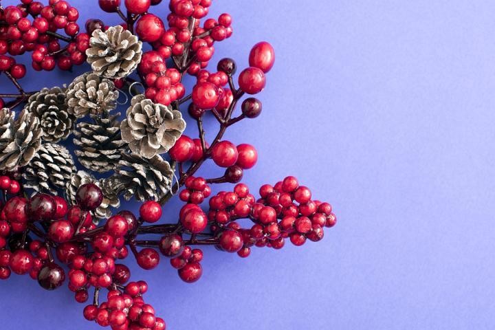 Image Of Berry Cone Christmas Wreath FreebiePhotography