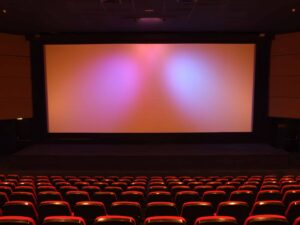 picture of movie screen as free summer activities for kids