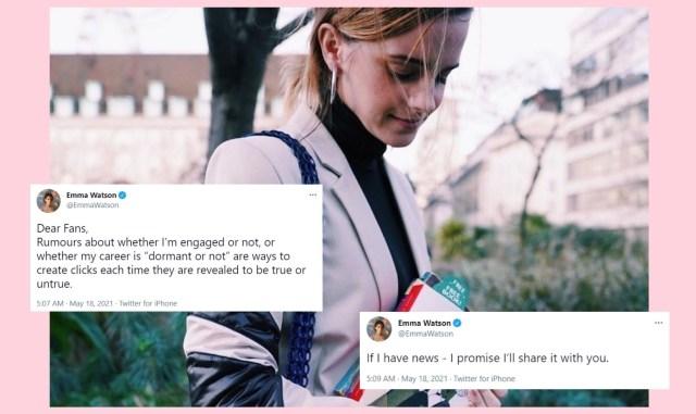Emma Watson Breaks Silence Over Retirement And Engagement Rumors