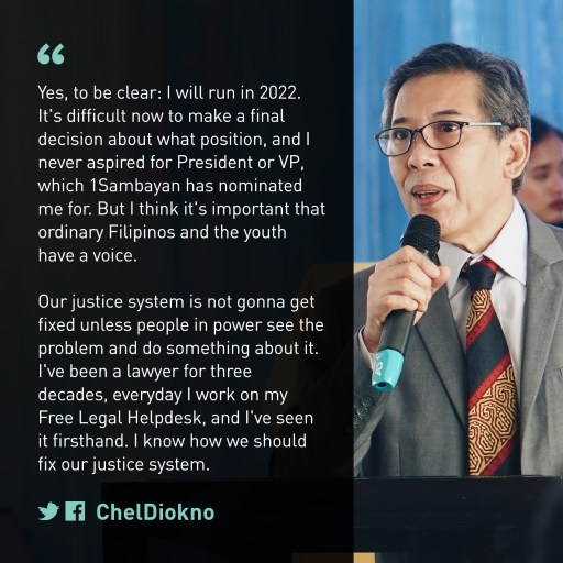 Chel Diokno Will Run in the 2022 Elections