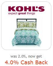 Kohls 4% cash back