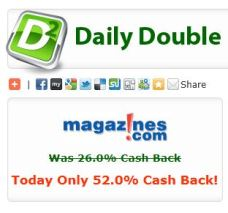 Magazines.com 52% cash back