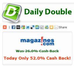 Magazines.com 52% cash back