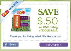Coupon $0.50 Dole Salad