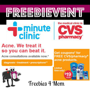 Free Acne Consultations at CVS