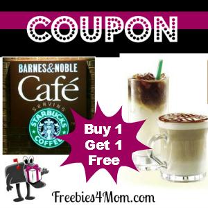 Coupon Barnes & Noble Buy 1 Starbucks Espresso, Get 1 Free