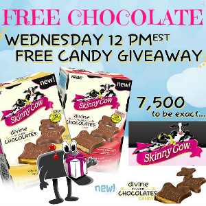 Free Skinny Cow Divine Filled Chocolates