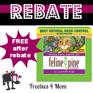 Rebate Try Feline Pine Clumping Litter for Free